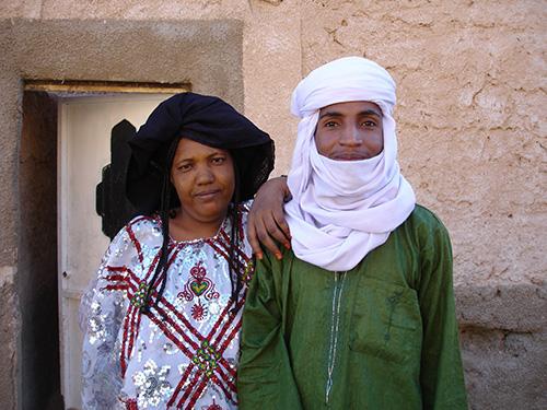 Ishumar, die nach Libyen migrierten nigrischen und malischen Imajeghen, sind durch eine doppelte Grenzziehung charakterisiert: eine innerethnische und eine staatlich-politische Grenze. (Foto: Ines Kohl 2007)